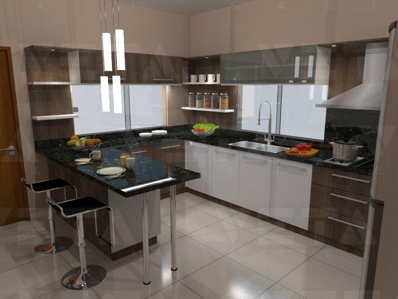 Accesorios modernos y belleza en la combinaci n de colores - Cajoneras de cocina ...