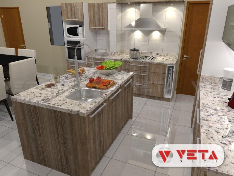 Conjunto de muebles de cocina y desayunador en isla - VETA ...