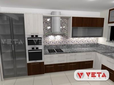 Armarios cerrados y decorando su cocina con un - Revestimientos cocinas modernas ...