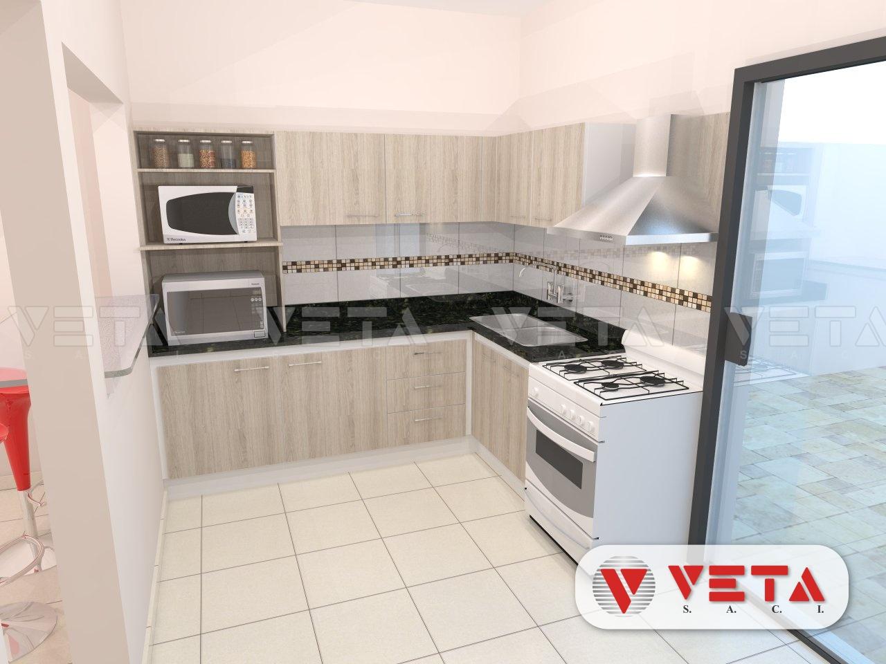 Peque a y pr ctica cocina veta s a c i - Cocinas pequenas y practicas ...