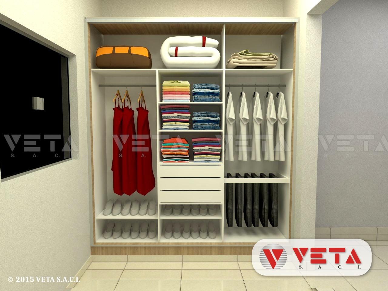 Vestidores para dormitorios veta s a c i - Vestidores para dormitorios ...